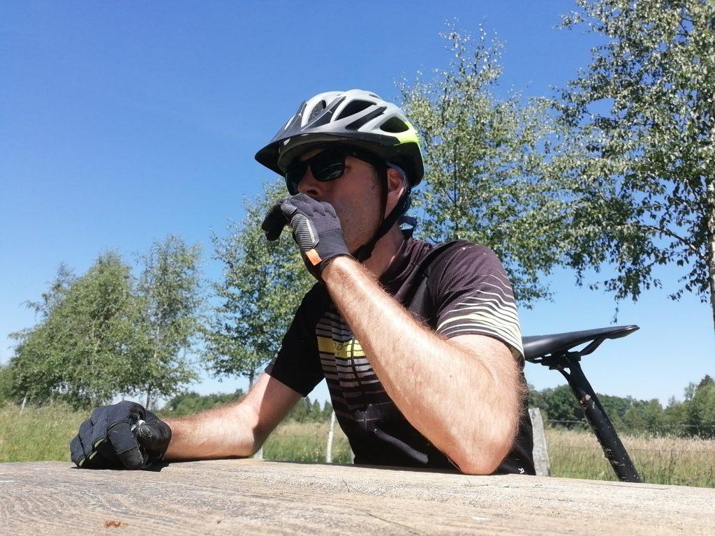 Eten tijdens het mountainbiken in Houffalize