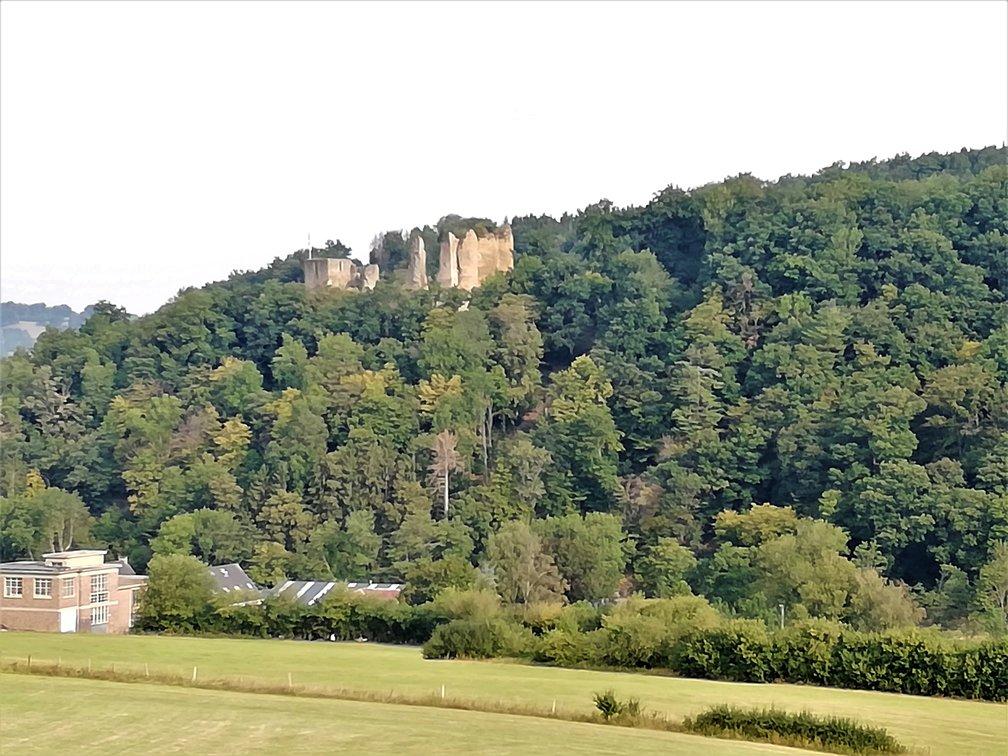 Uitzicht op het kasteel van Franchimont