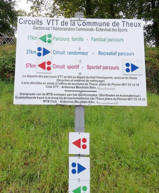 Mtb routes Theux