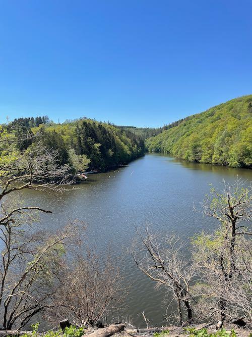 Lac des Deux Ourthes uitzicht