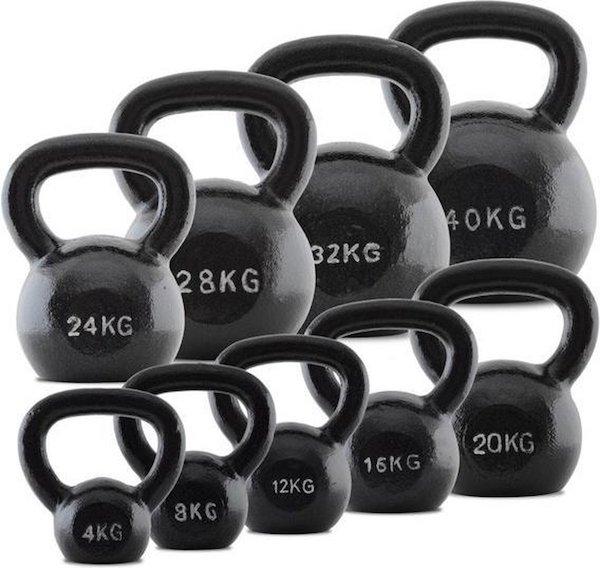 Focus Fitness gietijzeren kettlebell