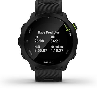 Garmin Forerunner 55 race prognose
