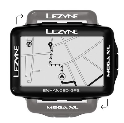 Lezyne Mega XL fietsnavigatie