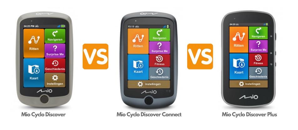 Mio Cyclo Discover vs Discover Connect vs Discover Plus
