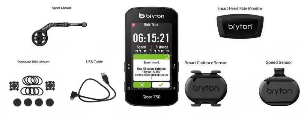 Bryton Rider 750 E en T