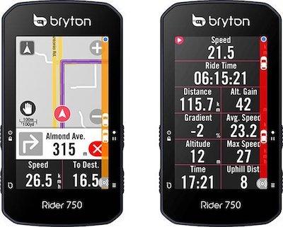 Bryton Rider 750 Bike Radar