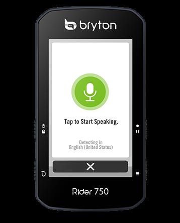 Bryton Rider 750 voice search