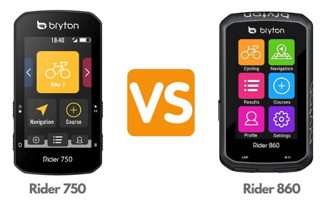Bryton Rider 750 vs Bryton Rider 860