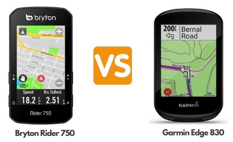 Bryton Rider 750 vs Garmin Edge 830