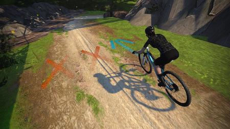 Zwift mountainbike